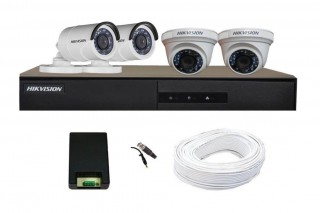 Hikvision 4 CCTV Camera 500GB 17LED Monitor Offer